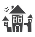 scary house glyph icon halloween and scary vector image vector image