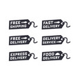 set of delivery service vector image vector image