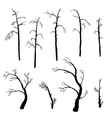 set of winter trees vector image
