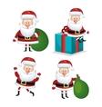 Set santa claus reindeer design