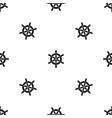 ship wheel pattern seamless black vector image