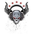 Skull Music vector image vector image