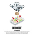 smartphone drone isometric vector image vector image