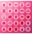 Solid Wedding Circle Icons vector image vector image