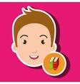 student boy school icon vector image