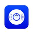 vinyl record icon blue vector image vector image