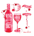 Watercolor Wine vector image vector image