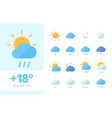weather set icon climatic fluctuations in world vector image
