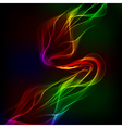 Abstract design-colorful waves on the dark vector image