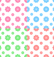 Colorful seamless pattern with flowers tiling vector image