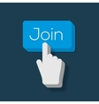 Join us Button with Hand Shaped Cursor vector image