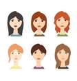 Different Woman Avatar Set vector image