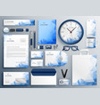 abstract blue business collateral set vector image vector image