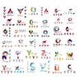 abstract company logo mega collection type vector image vector image