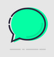 abstract flat green chat icon vector image