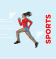 active sporty young running woman runner athlete i vector image vector image