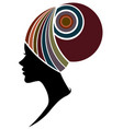 african women silhouette fashion models on white vector image vector image