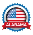 Alabama and USA flag badge vector image vector image