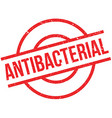 Antibacterial rubber stamp vector image