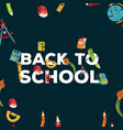 back to school colorful poster template with vector image vector image