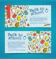 back to school horizontal banners vector image vector image