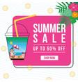 banner design of summer sale vector image