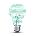 black light bulb vector image vector image