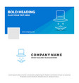 blue business logo template for moustache hipster vector image