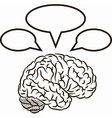 Brain with frames vector image vector image