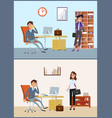business appointment client and director in vector image vector image