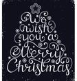 Christmas congratulation on black background