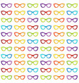 colorful summer vintage eyewear goggles in cat vector image vector image