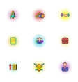 Company icons set pop-art style vector image vector image