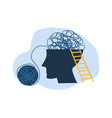 confused thoughts in head psychological problems vector image