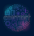 content round outline colorful modern vector image vector image