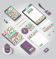 corporate identity print template vector image vector image