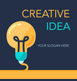 creative success idea banner vector image