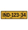 delhi car plate vector image
