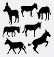 donkey mammal animal silhouette vector image vector image