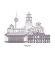 famous finland landmarks vector image