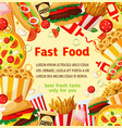 fast food meal restaurant fastfood poster vector image vector image