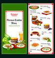 german and bavarian cuisine menu vector image vector image