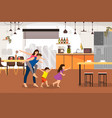 happy family buy new home cartoon concept vector image vector image