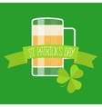 Happy St Patricks day green card vector image vector image