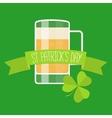 Happy St Patricks day green card vector image vector image