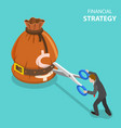 isometric flat concept growth strategy vector image