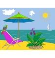 Landscape ocean shore vector image vector image