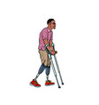 legless african veteran with a bionic prosthesis vector image