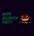 lit pumpkin halloween symbol design vector image vector image