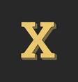 logo letter x gold vintage vector image vector image